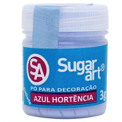 Pó Sugar Art Decoração Azul Hortência 3g