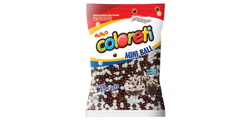 Cereal Coloreti Mini Ball Ao Leite  Jazam 500g