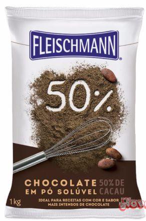 Chocolate em Pó 50% Cacau Fleischmann 1kg