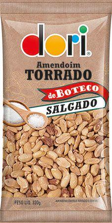 Amendoim de Boteco Torrado Salgado Dori 320g