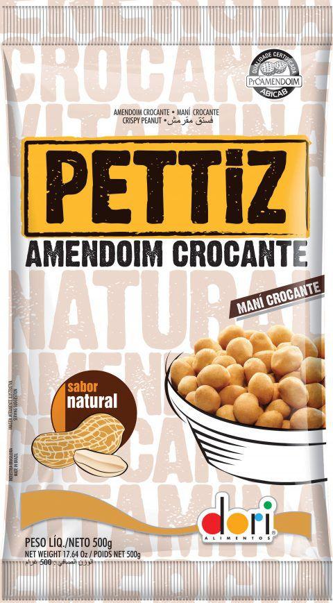 Amendoim Pettiz Natural Crocante Dori 500g