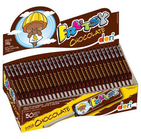 Pirulito Frutsy Mastigável Chocolate Dori 50unid