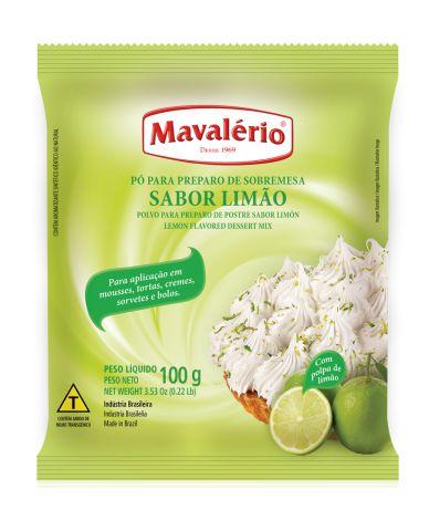 Pó para preparo de sobremesa sabor Limão Mavalério 100g