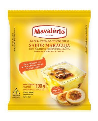 Pó para preparo de sobremesa sabor Maracujá Mavalério 100g