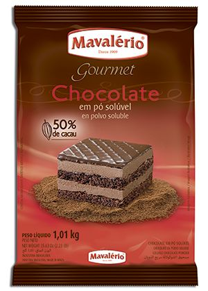Chocolate em pó 50% Cacau Mavalério 1,01kg