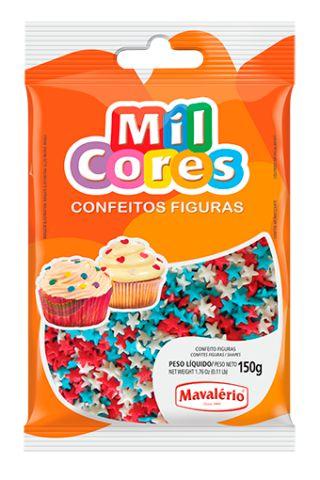Confeito Estrelinha Mil Cores 150g