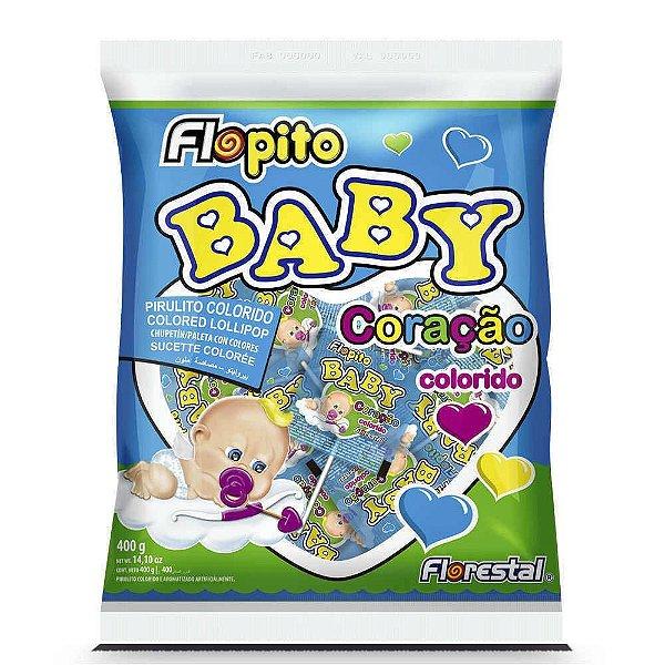 Pirulito Baby Coração Colorido Florestal 200g