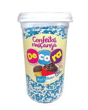 Confeito Decora Azul e Branco Cacau Foods 260g