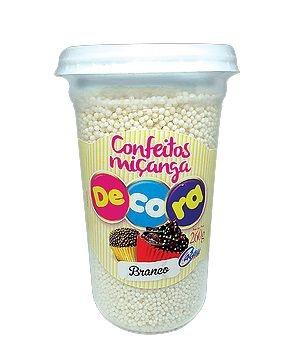 Confeito Decora Branco Cacau Foods 260g