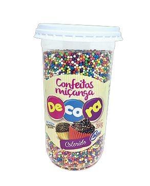 Confeito Decora Colorido Cacau Foods 260g