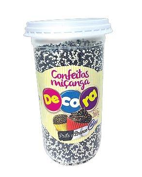 Confeito Decora Preto e Branco Cacau Foods 260g