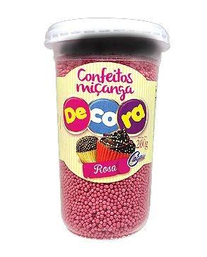 Confeito Decora Rosa Cacau Foods 260g