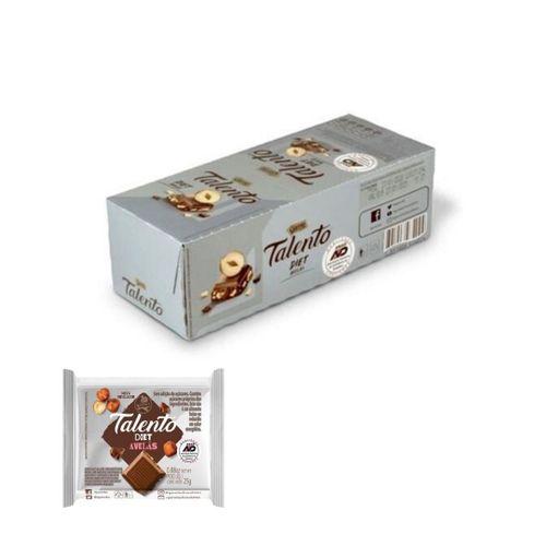 CHOCOLATE DIET TALENTO AO LEITE COM AVELÃ - GAROTO