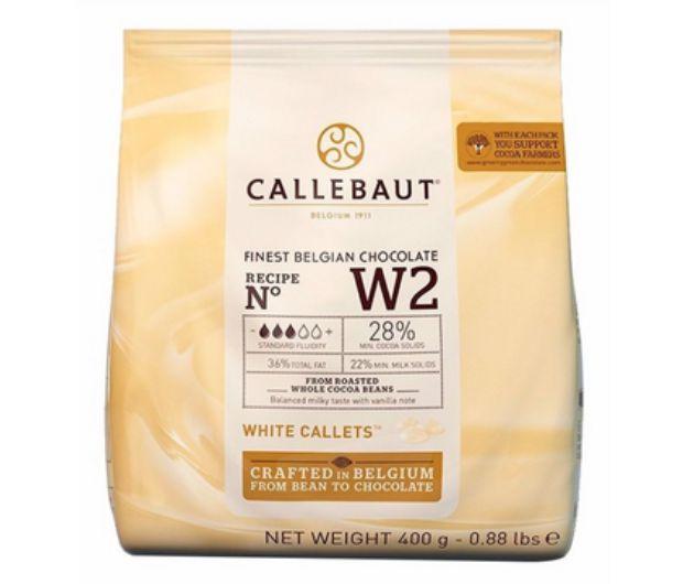 Chocolate Branco W2 28% Cacau Gotas Callebaut 400g