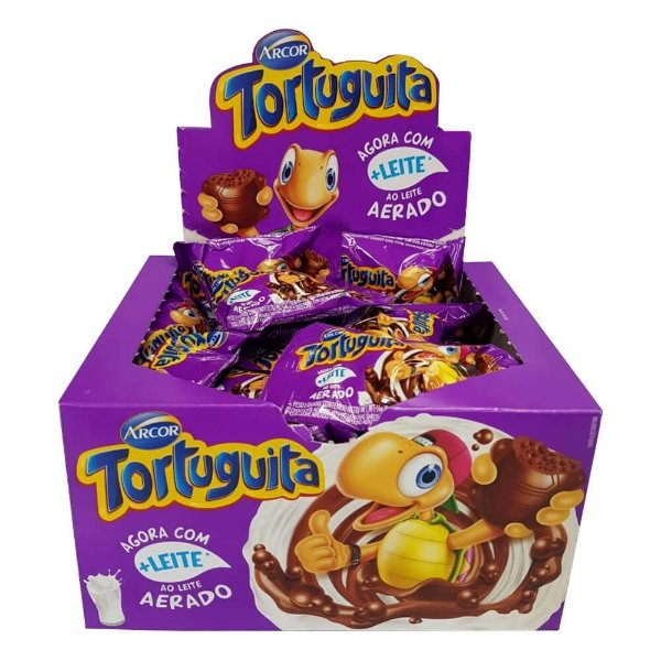 Chocolate Tortuguita Chocolate ao leite Aerado Arcor 432g
