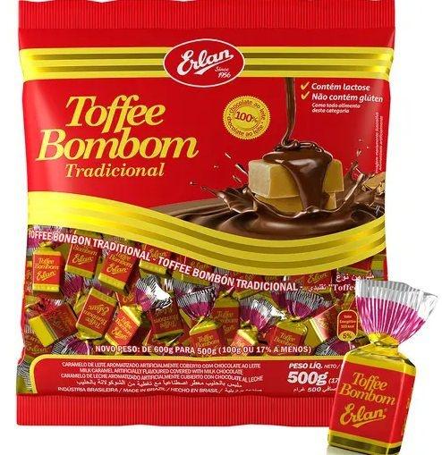 Bombom Toffee Tradicional ERLAN 500G