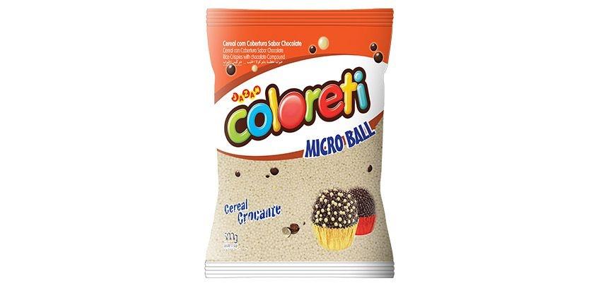 Cereal Coloreti Micro Ball Branco para pintar Jazam 500g