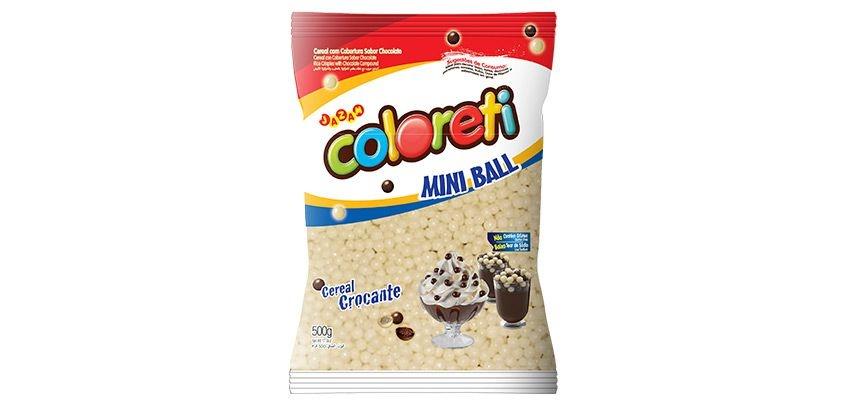 Cereal Coloreti Mini Ball Branco Jazam 500g