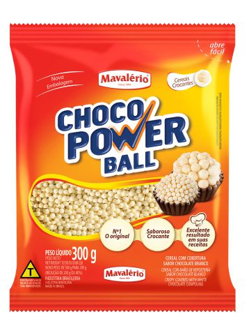 Choco Power Ball Micro Chocolate Branco Mavalério 300g