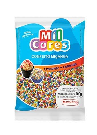 Confeito Miçanga Colorido Mil Cores 500g