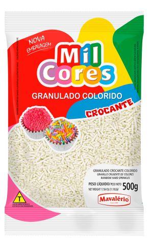 Granulado Crocante Branco Mil Cores 500g