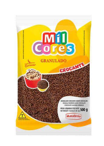 Granulado Crocante Chocolate Mil Cores 500g