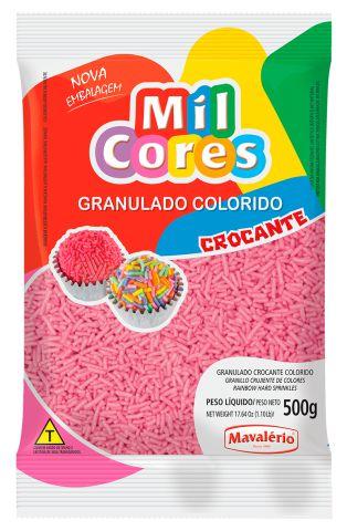 Granulado Crocante Rosa Mil Cores 500g