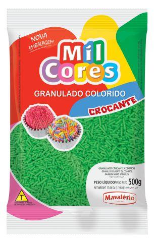 Granulado Crocante Verde Mil Cores 500g