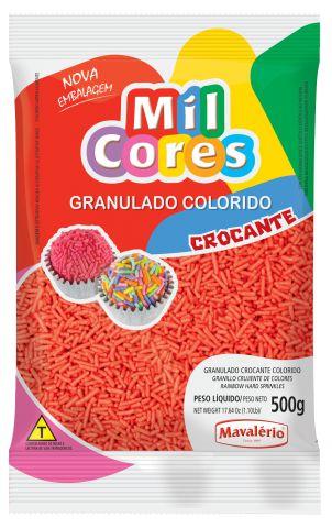 Granulado Crocante Vermelho Mil Cores 500g