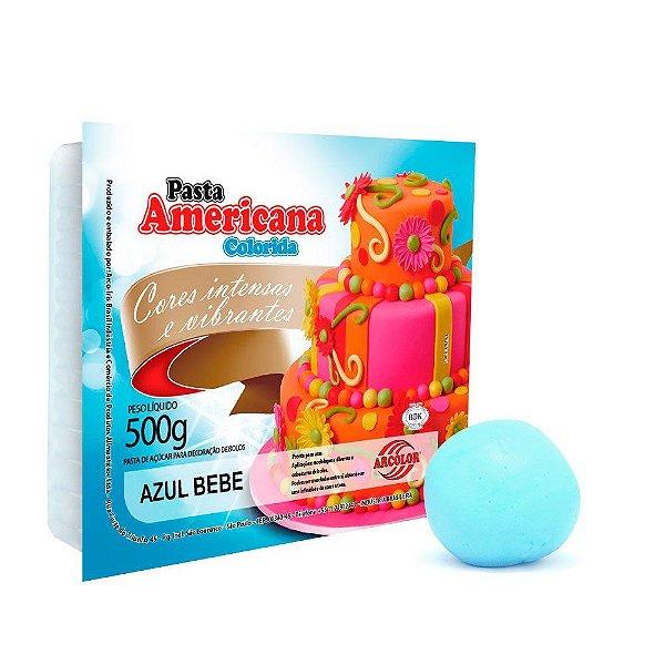 Pasta Americana Azul Bebe Arcolor 500g