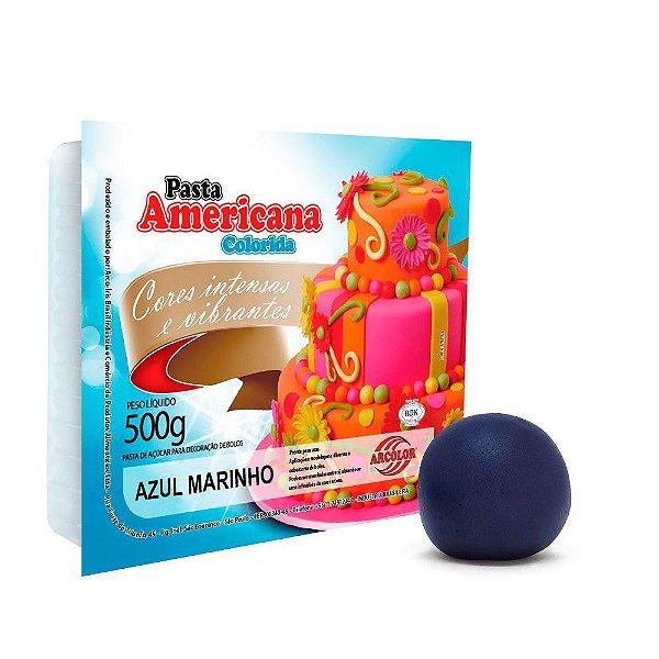 Pasta Americana Azul Marinho Arcolor 500g