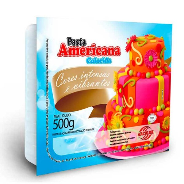Pasta Americana Marfim Arcolor 500g