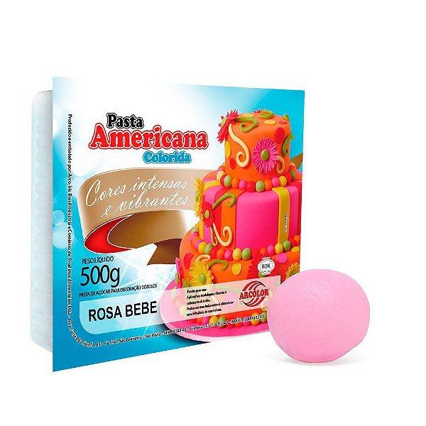 Pasta Americana Rosa Bebe Arcolor 500g