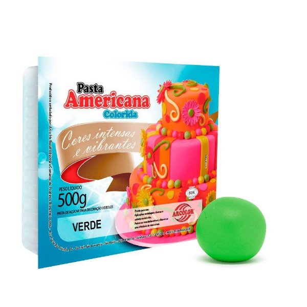 Pasta Americana Verde Arcolor 500g