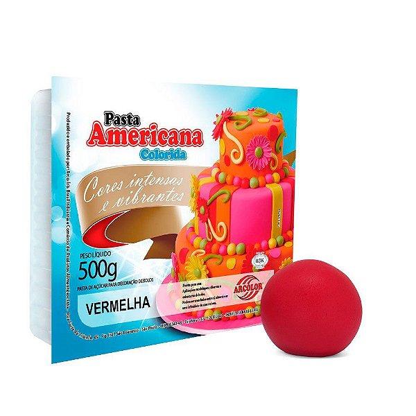 Pasta Americana Vermelha Arcolor 500g