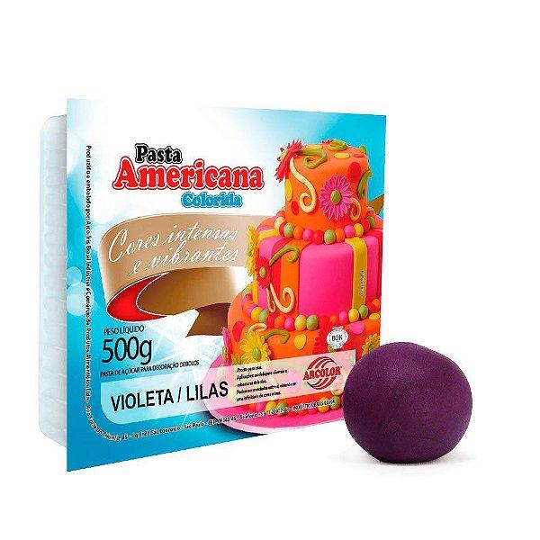 Pasta Americana Violeta/Lilás Arcolor 500g