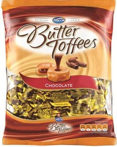 Bala Butter Toffees Chocolate Arcor 600g