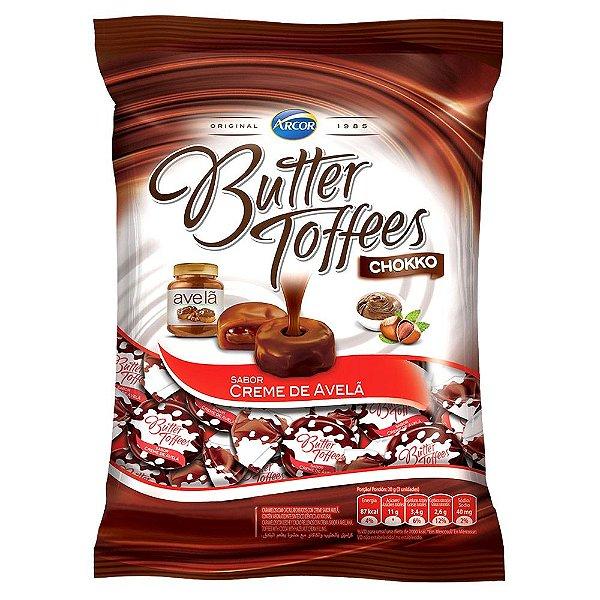 Bala Butter Toffees Creme de Avelã Arcor 600g