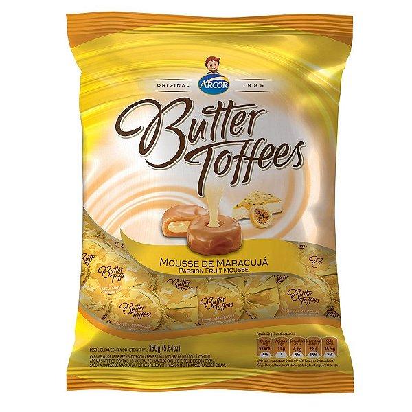 Bala Butter Toffees Maracujá Arcor 600g