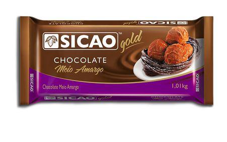 Chocolate Gold Meio Amargo Barra Sicao 1,01kg