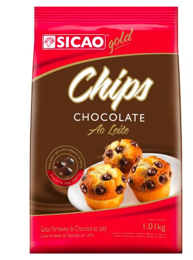 Chips Gold Chocolate ao Leite Sicao 1,01kg