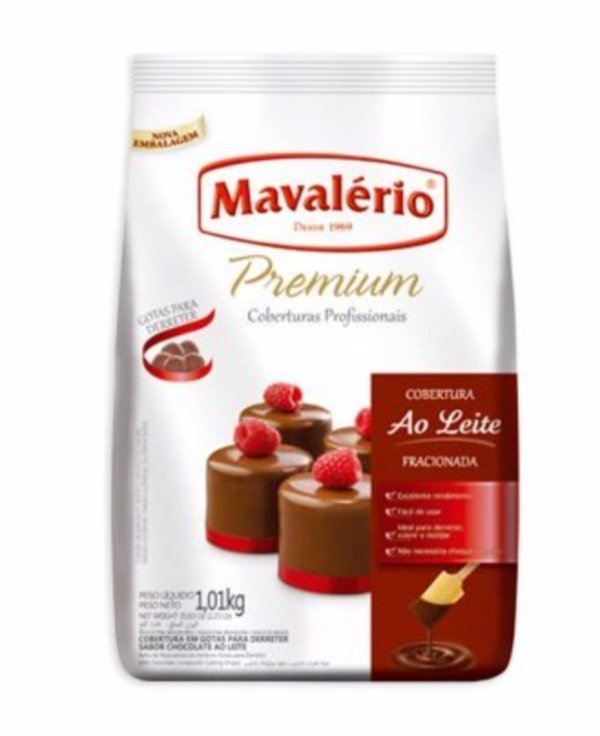 Cobertura Premium Ao Leite em Gotas 1,01kg -Validade 27/01