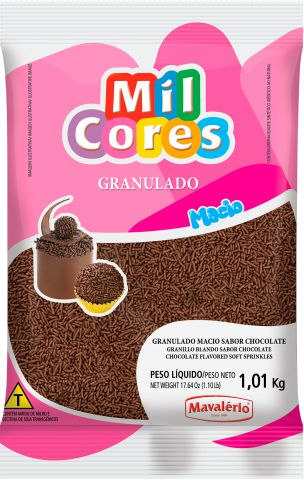 Granulado Macio Chocolate Mil Cores 1,1kg