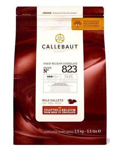 Chocolate Ao Leite 33,6% Cacau Gotas Callebaut 2,5kg