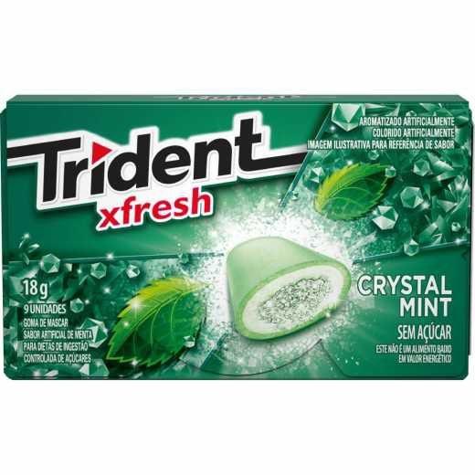 Chiclete Trident Xfresh Crystal Mint Mondelez 288g