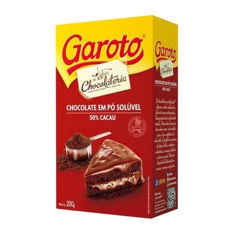 CHOCOLATE EM PÓ 50% CACAU 200g - GAROTO