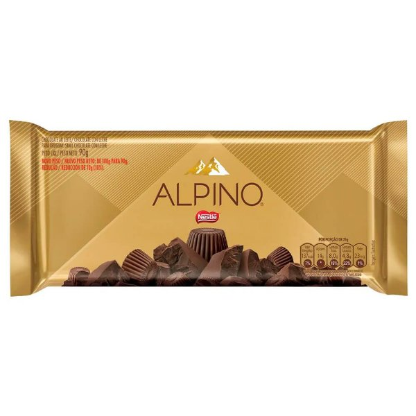 Chocolate Tablete Alpino Nestlé 90g