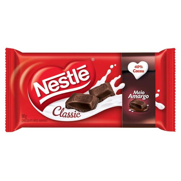 Chocolate Tablete Classic Meio Amargo Nestlé 90g