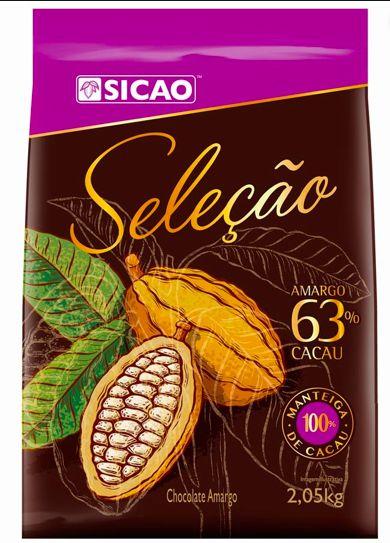 Chocolate Seleção Amargo 63% Cacau Sicao 2,05kg