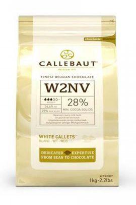 Chocolate Branco W2 28% Cacau Gotas Callebaut 1kg